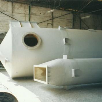 Lavador de gases de fibra de vidro - PRFV -.