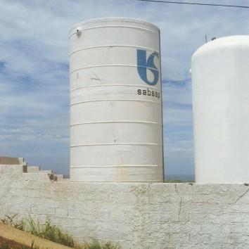 tanque de fibra de vidro para armazenamento de água da Sabesp.