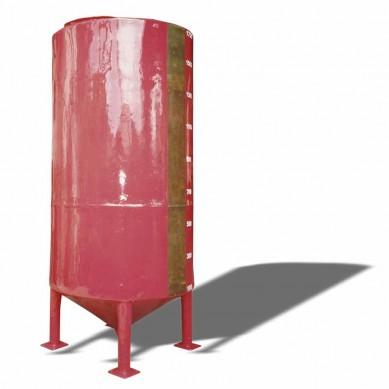 Tanque de fibra de vidro fundo cônico