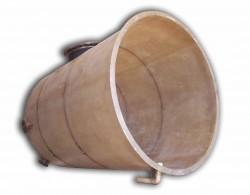 Tanque de fibra de vidro tampa plana